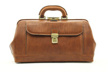 Bernini - Exclusive Leather Doctor Bag | Front  | Brown