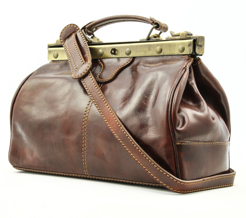 Modena - Doctor leather bag | Brown