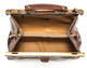 Modena - Doctor leather bag   Brown   very spacious inside   zipper divider