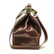 Modena - Doctor leather bag | Brown | Side view