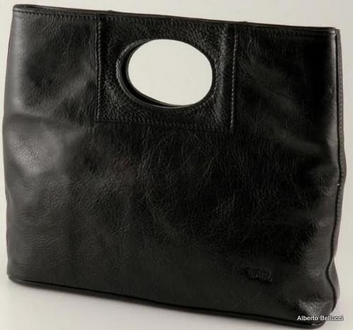 Ivanka Italian Leather Handbag | Color Black