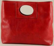 Ivanka Italian Leather Handbag | Color Red