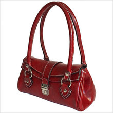 Luca Women's Italian Leather Handbag | Red