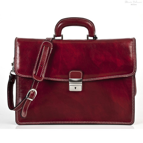 Vernio Single Gusset Briefcase | Color Red