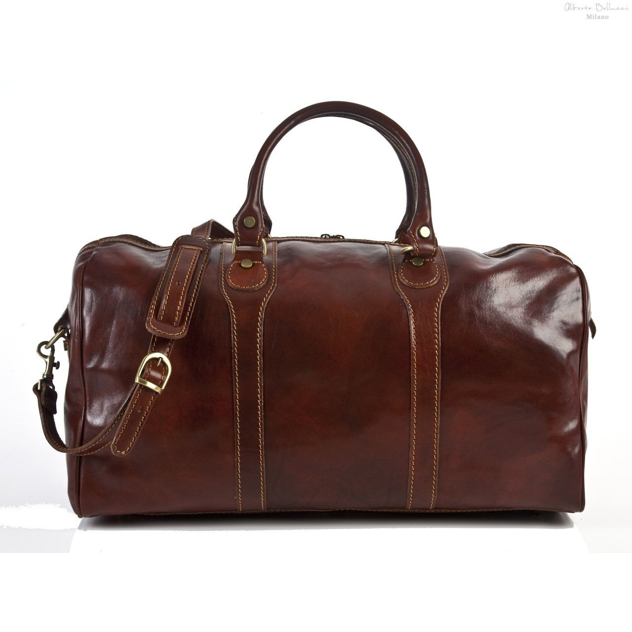 64e028f7723d6 Best Italian Leather - Amato Duffel Bag - Italian Leather Duffel Bag