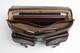 Parma Laptop Leather Messenger Bag | Open Full  | Color Dark Brown