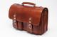 Parma Laptop Leather Messenger Bag| Front | Color Honey