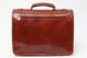 Parma Laptop Leather Messenger Bag | Back | Color Honey