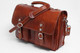 Parma Laptop Leather Messenger Bag | Front with Strap | Color Honey
