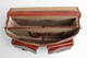 Parma Laptop Leather Messenger Bag | Open | Color Honey