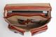 Parma Laptop Leather Messenger Bag | Open Full | Color Honey