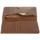 Handmade Italian Leather Wallet | Cognac | Open 3
