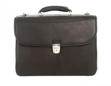 Handmade Italian Leather Briefcase | Front