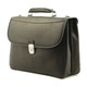 Handmade Italian Leather Briefcase | Right Angle view