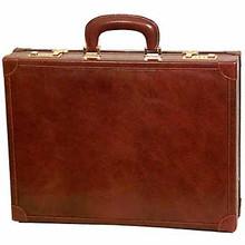 Tony Perotti Mens Italian Bull Leather Venezia Leather Attache Case with Dual Combination Lock, Laptop Compatible