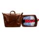 Handmade Italian Leather Travel Bag | Cognac | Group