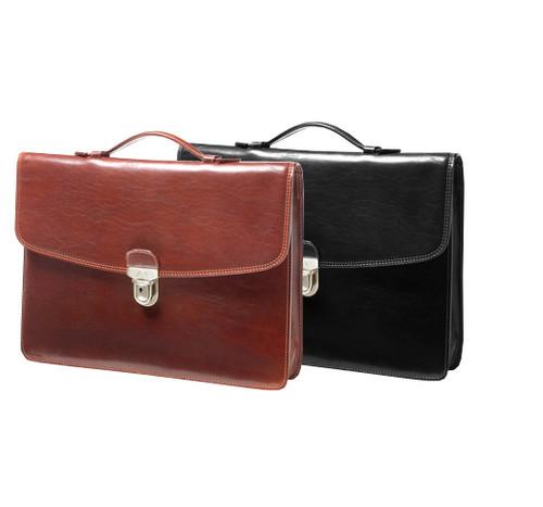 Handmade Italian Leather Briefcase | Group