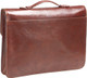 Handmade Italian Leather Briefcase | Brown | Back