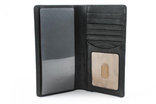 Prima Checkbook Wallet - I.D. PG409002 | Color Black | Front Open