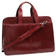 Handmade Italian Leather Briefcase | Burgundy | Front 2