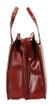 Handmade Italian Leather Briefcase | Burgundy | Side