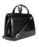 Handmade Italian Leather Briefcase | Black | Front