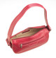 Handmade Italian Leather Handbag | Fuchsia | Open