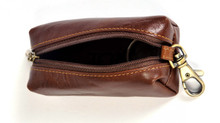 Italico Top-Zip Key Case | Top Open | Color Brown