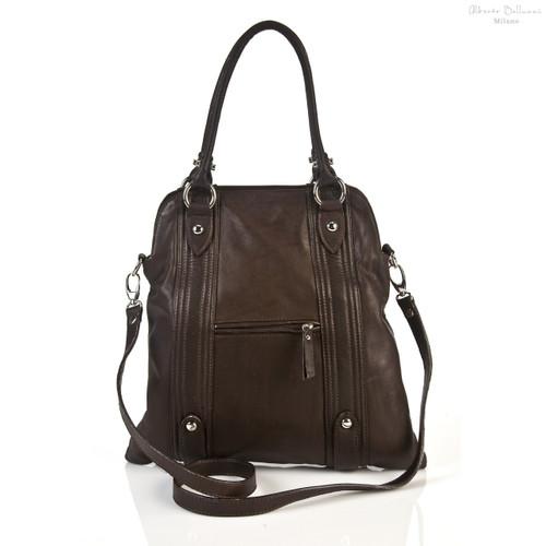Pesaro Fashionable Ladies Handbag | Front | Color Dark Brown