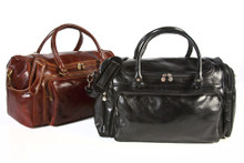 Alberto Bellucci Italian Leather Piana Duffle | Pair | Colors Brown and Black