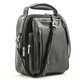 The Lugano Vertical Flap-Over Carry All Bag | Color Black - Left Angle detail