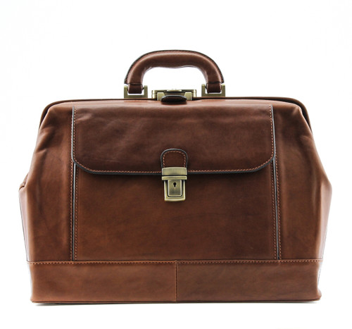 Bernini Grande Exclusive Leather Doctor Bag From Alberto Bellucci
