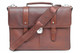 Classico Italiano Double Compartment Laptob Brief | Brown | Full view
