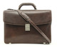 Giorgio Triple Compartment Briefcase | Brown | With Strap