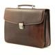 Massimo Bellini Briefcase | Brown | Left Angle