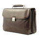 Roberto Four-Compartment Briefcase | Brown | Side