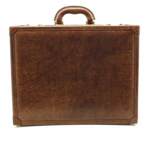 Venezia Grande Leather Attache Case | Color Brown