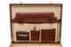 Amalfi Grande Leather Attache Case PI010204 | Color Brown | Open