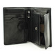 Ultimo Euro Credit Card and Coin Case Wallet with I.D. | Open Empty | Color Black