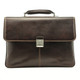 Tony Perotti Triple Compartment Briefcase - Brown