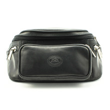 Tony Perotti Italian Leather Ultimo  Waist Pack - black