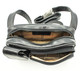 Tony Perotti Italian Leather Lucca Waist Pack - black open view