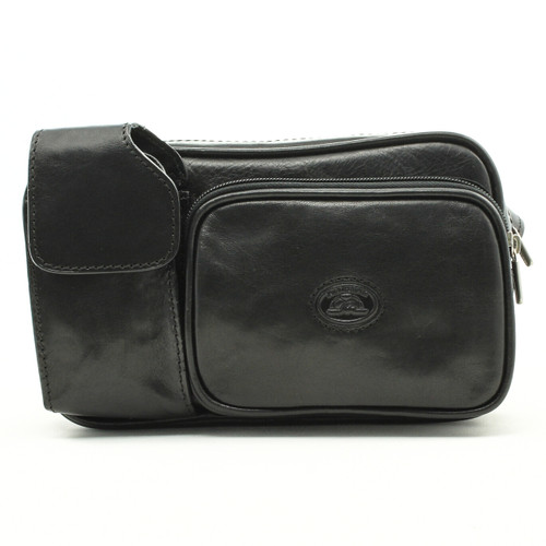 Tony Perotti Italian Leather Lucca Waist Pack - black