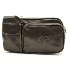 Tony Perotti Italian Leather Lucca Waist Pack - brown