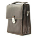 Tony Perotti Italian Leather Rovigo Vertical Flap-Over Carry All Bag - brown side view 2