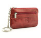 Tony Perotti Italian Leather Zippered Key Case - red side view 2
