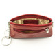 Tony Perotti Italian Leather Zippered Key Case - red open view