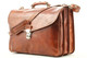 Tuscany Triple Compartment Messenger Brief Bag in Honey | Removable shoulder strap