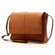 Muiska Berlin - Classic Leather Messenger Bag - Front View, Saddle