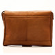 Muiska Berlin - Classic Leather Messenger Bag - Back View, Saddle